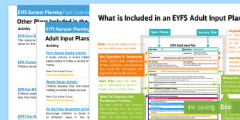 EYFS Farm-Themed Bumper Planning Pack Overview - Early Years planning, Foundation, continuous provision, enhancements, Adult Led, topic planning, Far