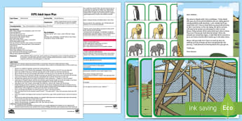 EYFS Animal Delivery Adult Input Plan and Resource Pack - EYFS Number ELG, mathematics, early years, EYFS Planning, Adult led, halving, half, halve, find, che