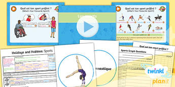 French: Holidays and Hobbies: Sports Year 4 Lesson Pack 5