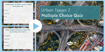 Urban Issues Quiz 2 PowerPoint - Urban Issues and Challenges AQA GCSE