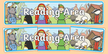 Reading Area Display Banner - reading area, reading area banner, reading area display, reading banner, book corner banner, book corner, reading corner