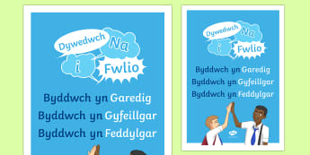 Poster Wythnos Gwrth Fwlio: Dywedwch Na i Fwlio Poster A2-Welsh - WLW Wythnos Gwrth-Fwlio CS (Anti-Bullying Week Foundation Phase 14-18 of Nov), Wythnos Gwrth-Fwlio. - WLW Wythnos Gwrth-Fwlio CS (Anti-Bullying Week Foundation Phase 14-18 of Nov), Wyt
