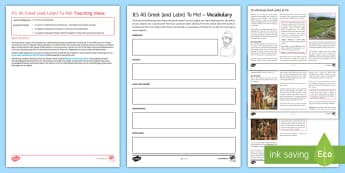 It's All Greek (and Latin) To Me! Differentiated Comprehension Go Respond Worksheet / Activity Sheets - word origins, English , etymology, study language, development , reading