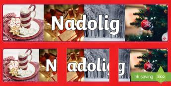 Baner Arddangosfa Ffotograffau Nadolig  - Christmas, display, banner, Nadolig, baner, arddangosfa,Welsh