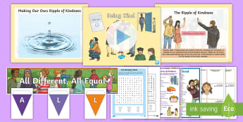 KS2 Anti Bullying Week - All Different All Equal? 2017 Resource Pack - Anti-bullying week, staying safe, all different all equal, bullying, kind
