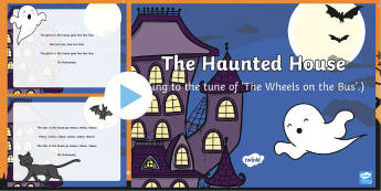 Haunted House Song PowerPoint - EYFS, Early Years, Halloween, witches, wizards, magic spell, Hallowe'en, All Hallows Eve, All Saint