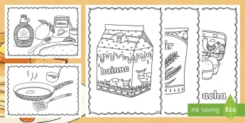 Pancake Tuesday Mindfulness Irish Colouring Pages - Pancake Tuesday, Lent, Irish, Gaeilge, ROI, Mindfulness, Colouring Sheet,Irish