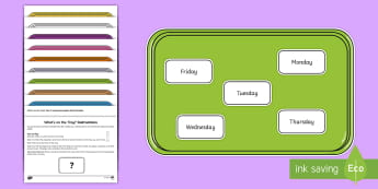 What's on the Tray? Days of the week Memory Activity Pack - memory games, memory, memory game, memory activities, memory games for kids, auditory memory activit