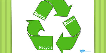 Eco And Recycling Reduce Reuse Recycling Poster - Eco and Recycling, environment, recycling, eco, display, banner, sign, poster, friendly, Eco school,  reuse, reduce, emission, Eco, recycle, paper, saving, turn off, lights, electricity, eco class