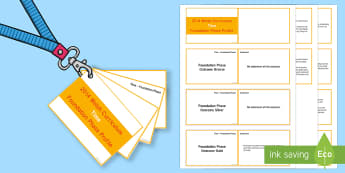 Lanyard Sized Foundation Phase Profile Time Skills Ladder Cards -  Lanyard Foundation Phase Outcomes, Foundation Phase, Foundation Phase Profile, FPP, Wales, Assessme