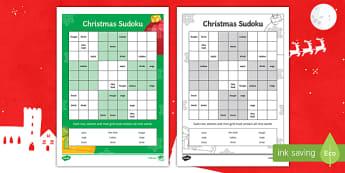 Christmas Words Sudoku French