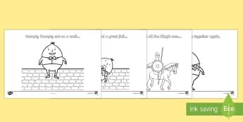 Humpty Dumpty Colouring - - humpty dumpty, colouring, nursery rhyme, traditional tales, eyfs, ks1