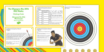 The Olympics Rio 2016 LKS2 Maths Challenge Cards Polish Translation - polish, KS2, Maths Challenge, Olympics, graph, division, combinations, rugby sevens, target, archery, halving, Rio, challenge cards
