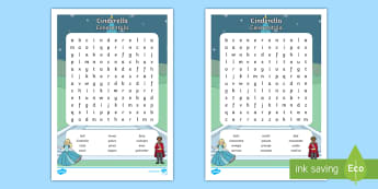 Cinderella Word Search English/Italian - Cinderella Wordsearch - cinderella, wordsearch, words, activity, Cindarella, cinderlla, cindrella, c
