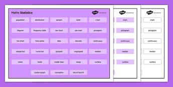 KS3 Maths Word Mat Statistics - KS3, KS4, GCSE, Maths, keywords, vocabulary, revision, statistics, data handling