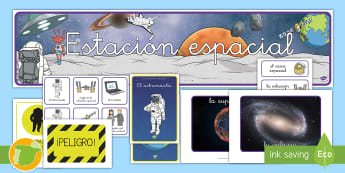 Pack de recursos: Juego de roles - En la estación espacial - pósteres, poster, posters, póster, espacio, espacial, actuar, actuación juego, jugar, roles, rol,