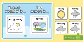 Weather and Season Display Poster - weather and seasons, weather, seasons, display poster, display, poster