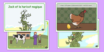 Jack and the Beanstalk Story French - jack, beans, traditional, tale, fairy, story, giant, French, France, Francais, MFL