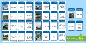 New Zealand Bridges Fact Cards - Aotearoa, my place, river, water