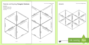 Materials and Recycling: Tarsia Dominoes  - Tarsia, gcse, chemistry, polymer, polymers, monomer, monomers, extraction, extract, composite, alloy