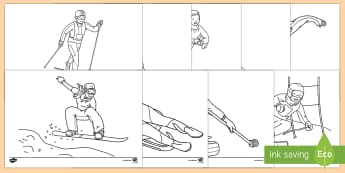 Winter Olympics Colouring Pages - winter, olympic, colouring