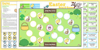 One More Than Easter Bunny Hop Board Game - activities, activity