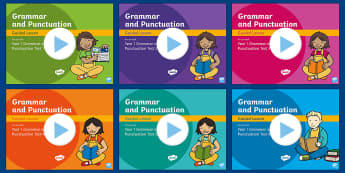 Year 1 Grammar and Punctuation Tests Guided PowerPoint Resource Pack - KS1 SPaG Assessment Guided Lesson PowerPoints, SPaG, spelling, punctuation, grammar, GPS, assess, re