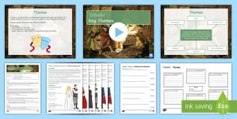 Othello Themes Lesson Pack - Othello, Desdemona, Emilia, Bianca, Iago, Brabantio, Roderigo, Montano, Cassio, Lodovico, Gratiano,