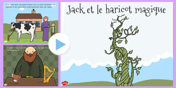 Jack and the Beanstalk Story PowerPoint French - french, jack and the beanstalk, story, jack et le haricot magique