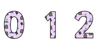 Elizabeth Fry Themed A4 Display Numbers - elizabeth fry, display numbers, numbers, numbers for display, themed numbers, classroom display, display