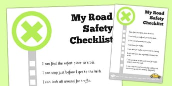 Road Safety Checklist - road safety, checklist, check, road, safe