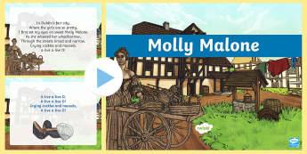 Molly Malone Song PowerPoint - Irish Music, traditional Irish music,Molly Malone, Ireland, Dublin, song lyrics ,Irish