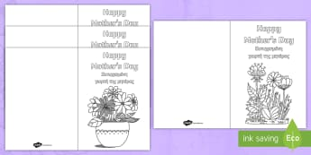 Mother's Day Mindulness Colouring Cards English/Greek - KS1 & KS2 Mother\'s Day, EAL, Greek, greek