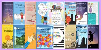 Motivational Posters Pack - motivational, posters, display, pack