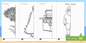 New Zealand Christmas Symmetry Worksheet / Activity Sheets