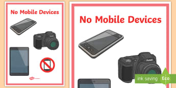 No Mobile Devices Display Poster  - Internet Safety Display Posters Polish - polish, internet safety display banner, internet safety, sa