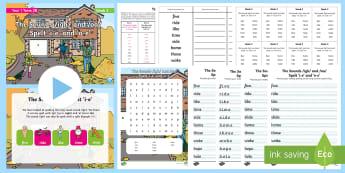 Year 1 Term 2B Week 3 Spelling Pack - Spelling Lists, Word Lists, Spring Term, List Pack, SPaG, spelling homework, spelling test