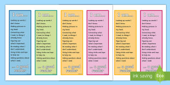 Good Reader Editable Bookmarks -  - Smart Reader Poster - smart reader, reading, display poster, poster for display, classrooom posters,