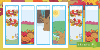 Little Acorns Editable Bookmarks - Twinkl Originals, Fiction, book mark, reading, reward, autumn, trees, plants, life cycle