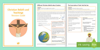 Christianity: Beliefs and Teachings Revision Guide Booklet - oneness of God, resurrection, crucifixion, Jesus, Son of God, Trinity, God the Father, Holy Sprit, a