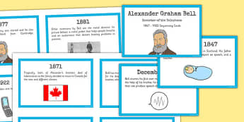 Alexander Bell Sequencing Cards - alexander bell, sequencing
