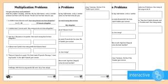 Year 2 Maths Multiplication Word Problems Homework Go Respond Activity Sheet - year 2, maths, homework, multiplication, word problems, problem solving, Worksheet, word problems, i