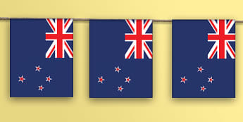 New Zealand Flag A4  Display Bunting  - Pacific Islands, Pasifika, Samoa, Tonga, New Zealand Culture, New Zealand, Cook Islands, flags, bunt