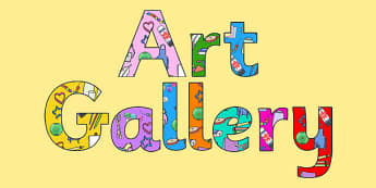 Art Gallery Display Lettering - display, letters, art gallery