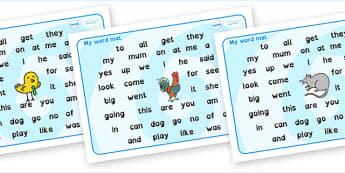 FS2 Word Mat Dyslexia - fs2 word mat, foundation stage 2 word mat, dyslexia fs2 word mat, dyslexia font fs2 word mat, sen font word mat, sen phonics words