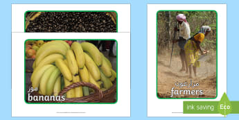 Fairtrade Display Photos Arabic/English - fairtrade, photos, photograph, display, EAL,Arabic-translation