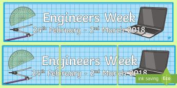 Engineers Week 2018, engineering, stem, science, technology, science banners, engineering week,
