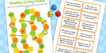 Healthy Living Game KS2 - healthy living, game, ks2, healthy
