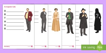 An Inspector Calls Acrostic Poems Activity Pack - Sheila birling, sheila, characters in An inspector Calls, An inspector calls, characterisation, lowe