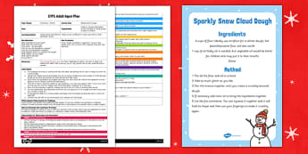 Making Snow Dough EYFS Adult Input Plan and Resource Pack - early years